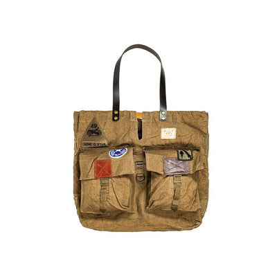 Vintage Military Patch Tote Tote WillLeatherGoods 34