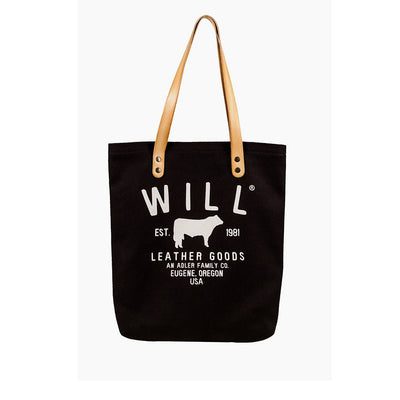 North South Tote Tote WillLeatherGoods Black