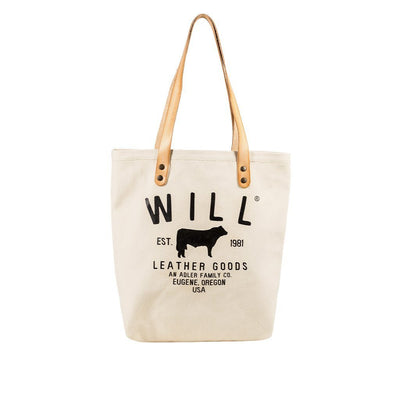 North South Tote Tote WillLeatherGoods Ivory