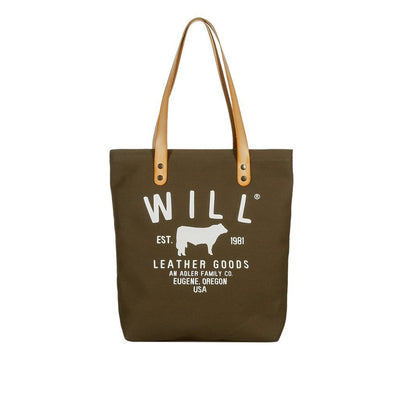 North South Tote Tote WillLeatherGoods Olive