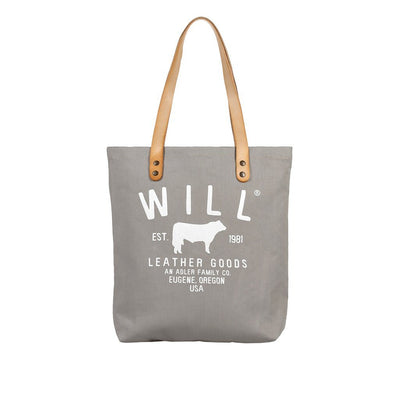 North South Tote Tote WillLeatherGoods Grey