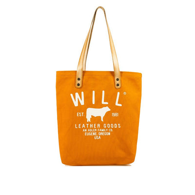 North South Tote Tote WillLeatherGoods Orange