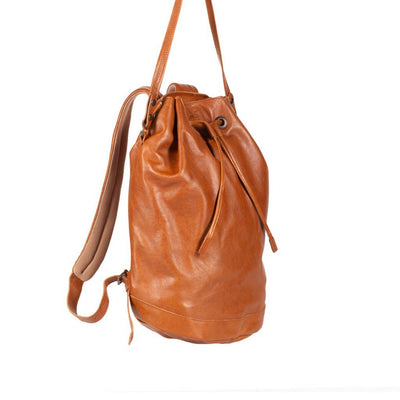 All Weather Leather Drawstring Backpack WillLeatherGoods