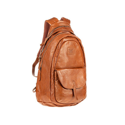 All Weather Leather Front Flap Pocket Backpack WillLeatherGoods