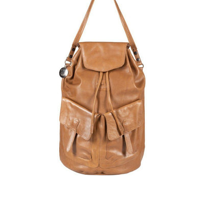 All Weather Leather with Double Pockets Backpack WillLeatherGoods Tan