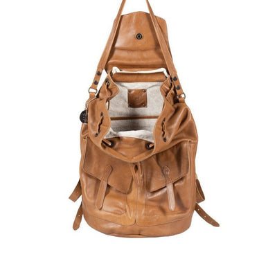 All Weather Leather with Double Pockets Backpack WillLeatherGoods