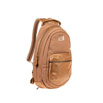All Weather Canvas and Leather Front Zip Pocket Backpack WillLeatherGoods
