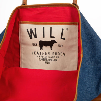 Classic Denim Tote Will Leather Goods