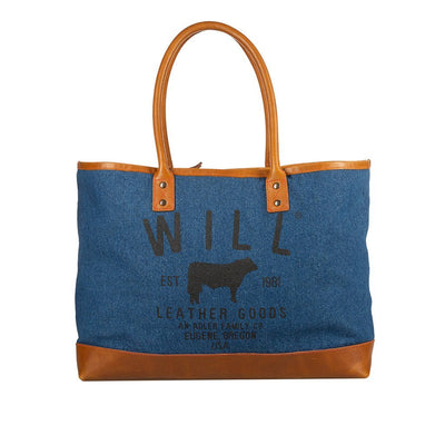 Classic Denim Tote Will Leather Goods DARK DENIM