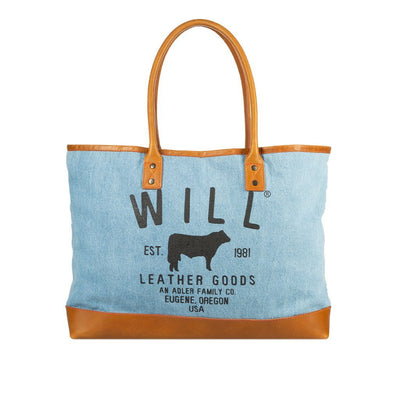 Classic Denim Tote Will Leather Goods LIGHT DENIM