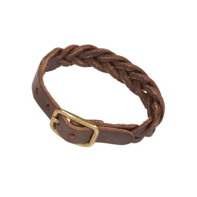 Braided Cuff Cuff WillLeatherGoods Brown