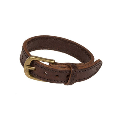 Plain Stitched Cuff Cuff WillLeatherGoods Brown