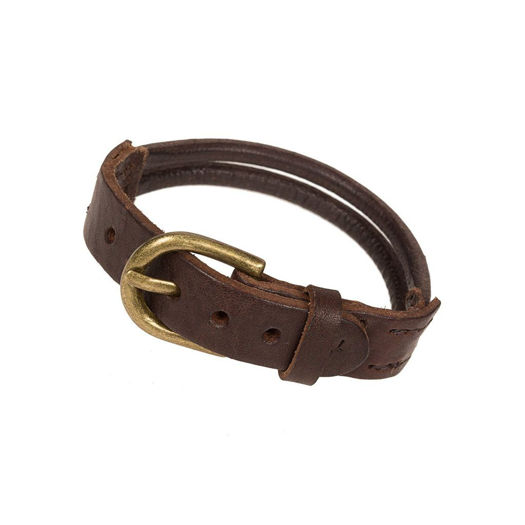Double Leather Band Cuff