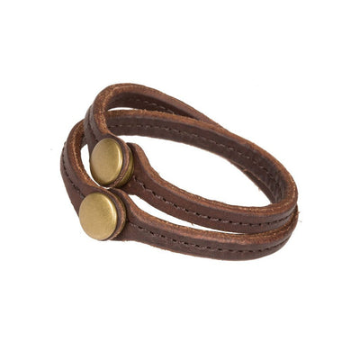 Double Snap Convertible Cuff Cuff WillLeatherGoods Cognac