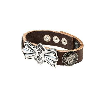 Buffalo Nickel and Bow Concho Cuff