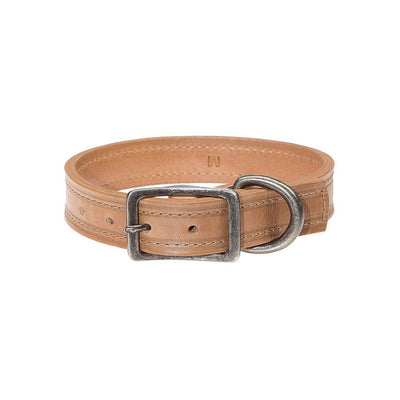 Napoli Dog Collar Pet WillLeatherGoods Tan Small