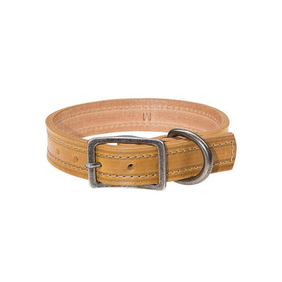Napoli Dog Collar Pet WillLeatherGoods Yellow Small