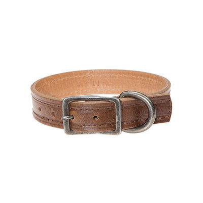 Napoli Dog Collar Pet WillLeatherGoods Dark Brown Small