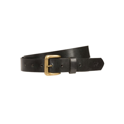 Lightweight Classic Saddle Leather Belt Black