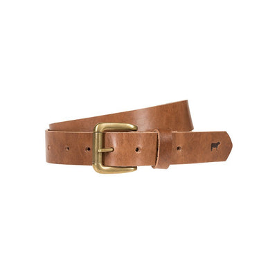 Lightweight Classic Saddle Leather Belt Brown