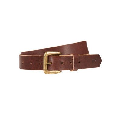 Lightweight Classic Saddle Leather Belt Burgundy