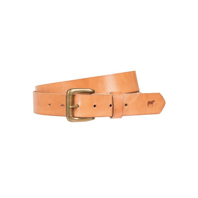 Lightweight Classic Saddle Leather Belt Tan