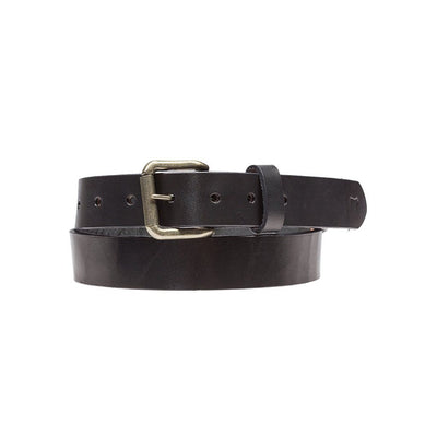 Black Classic Saddle Leather Belt