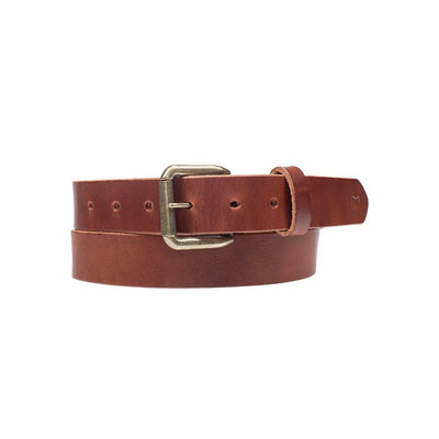 Brown Classic Saddle Leather Belt