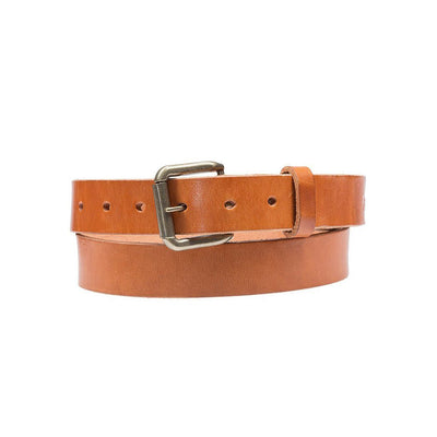 Tan Classic Saddle Leather Belt
