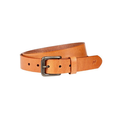 Classic Saddle Leather Belt Belt WillLeatherGoods Tan 30