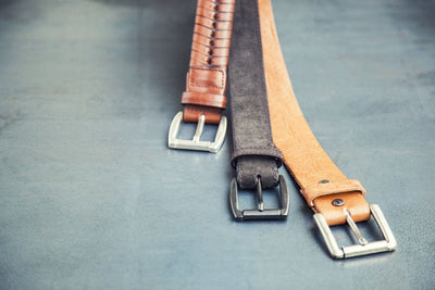 Garrick Belt -- Blemished Belt BLEMISH WillLeatherGoods WORN