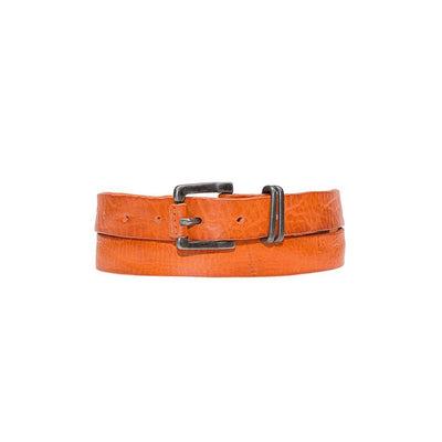 Double Wrap Sunset Belt Leather Orange