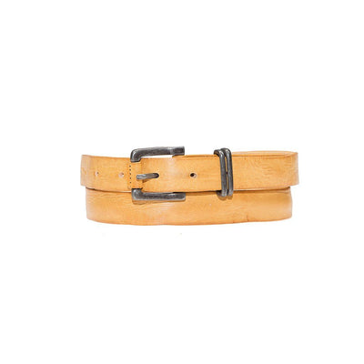 Double Wrap Sunset Belt Leather Yellow