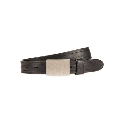 Italia Plaque Belt Black