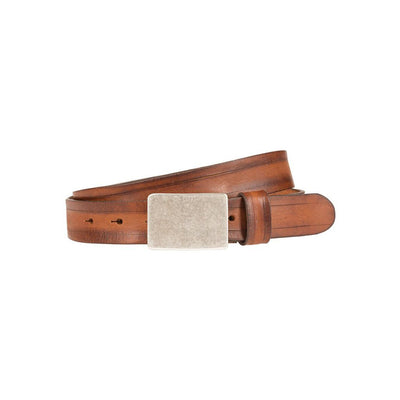 Italia Plaque Belt Tan