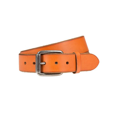 Harlequin Belt Belt WillLeatherGoods LAST CHANCE Orange 32