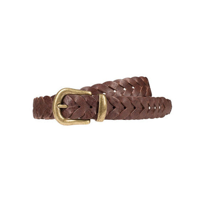 Infinity Braid Belt Brown