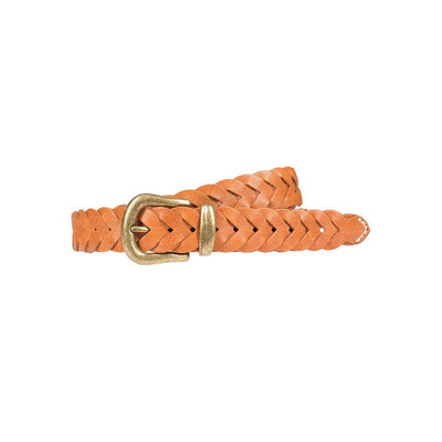 Infinity Braid Belt Cognac