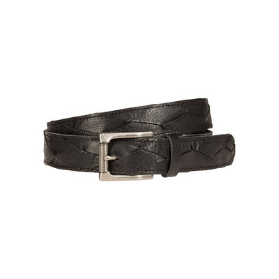 3x1 Flat Braid Belt Black