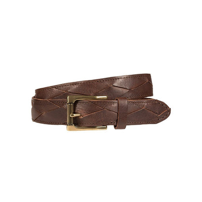 3x1 Flat Braid Belt Brown