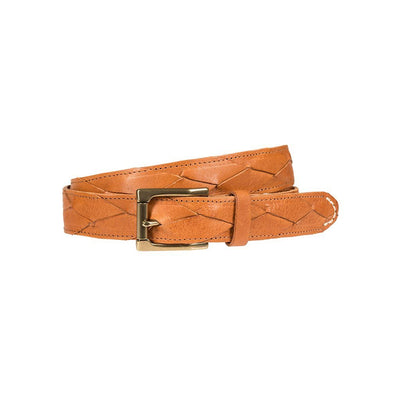 3x1 Flat Braid Belt Cognac