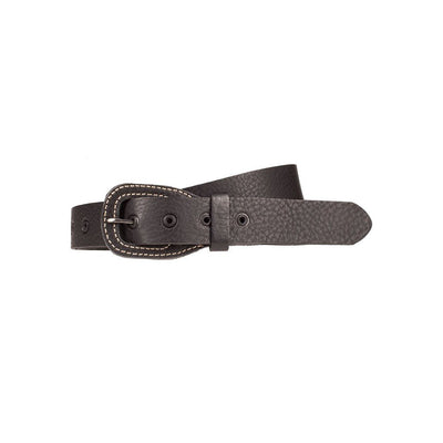 Stacked Buckle Belt Black