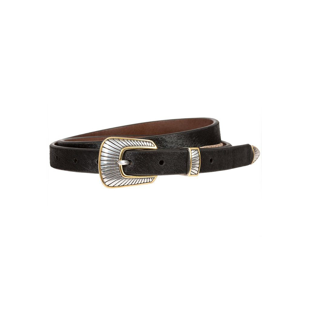 Hair-On Dagger Buckle Belt