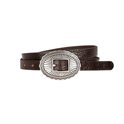 Concho Belt Belt WillLeatherGoods LAST CHANCE Brown M Final Sale