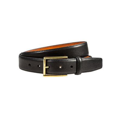 William 35mm Feather Edge Belt Belt WillLeatherGoods Black 32