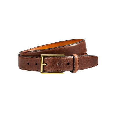 William 35mm Feather Edge Belt Belt WillLeatherGoods Dark Brown 32