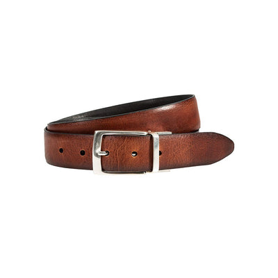 William 35mm Reversible Belt Belt WillLeatherGoods Cognac/Black 32