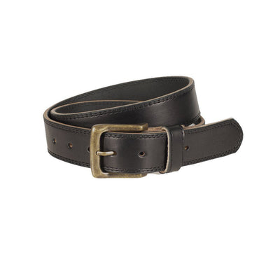 USA Saddle Leather Casual Belt Belt WillLeatherGoods Black 30