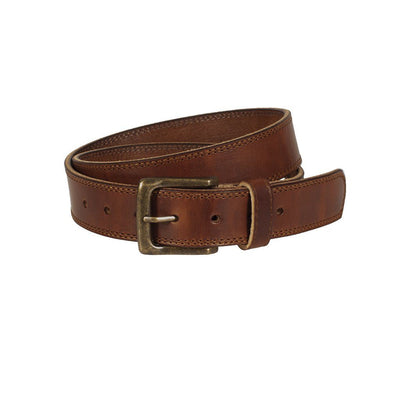 USA Saddle Leather Casual Belt Belt WillLeatherGoods Brown 30