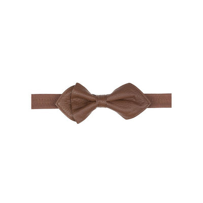 Deerskin Bowtie Tie WillLeatherGoods LAST CHANCE Brown Final Sale